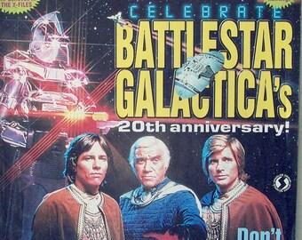 Starlog #255 ~ Battlestar Galactica, Lorne Greene, Richard Hatch, The X-Files, Gillian Anderson, Blade, Wesley Snipes, 1998 ~ MAGAZINE