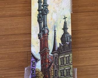 12x24 hogwarts canvas print signed Maydak