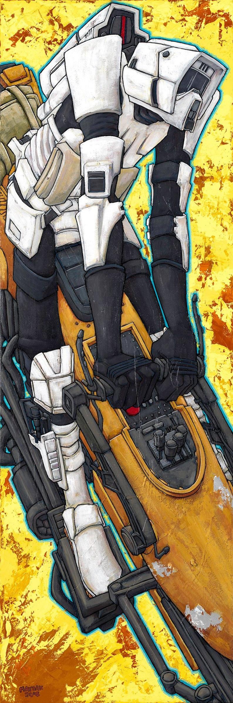Signed Maydak. Sci Fi Canvas Print 8x24
