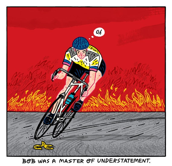 Bob Was A Master Of Understatement - art poster print by Oliver Lake iOTA iLLUSTRATiON