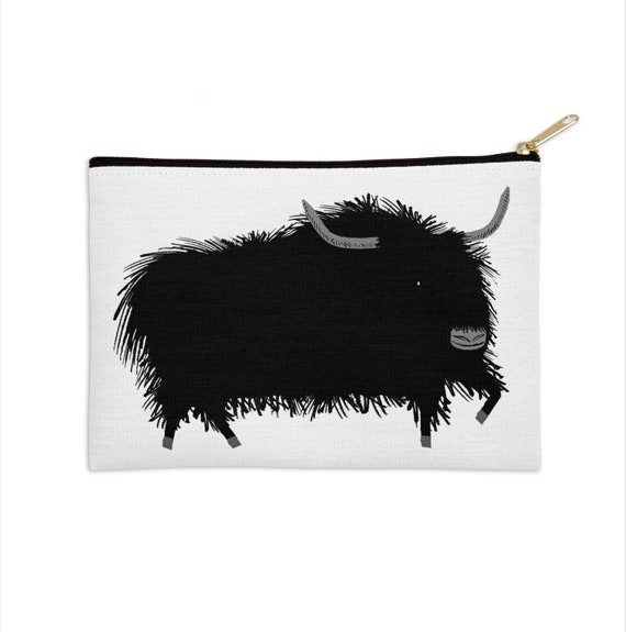 "The Yak - pencil case - zip pouch - 8.5"" x 6"" / 12.5"" x 8.5"""