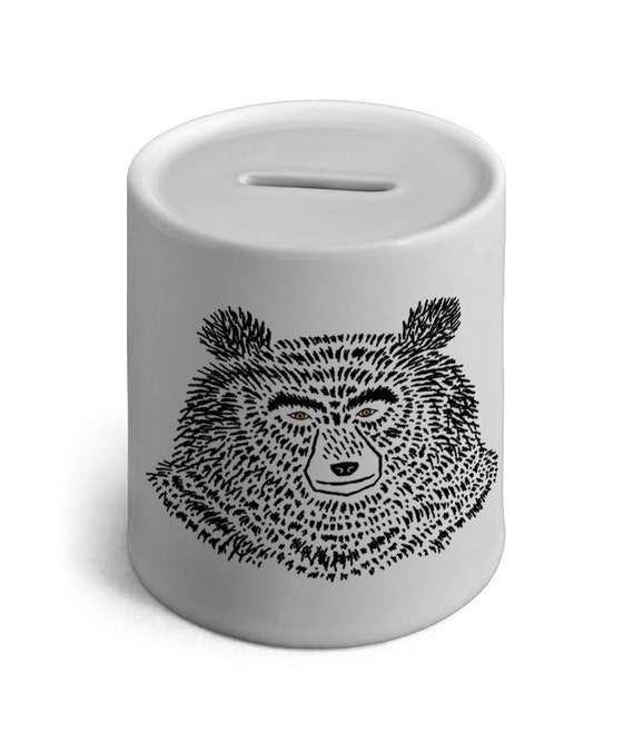 The Bear, Ceramic Money Box , Piggy Bank, by Oliver Lake