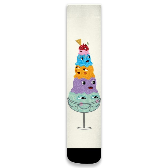 I Scream, You Scream, We All Scream For Ice Cream Socks by Oliver Lake iOTA iLLUSTRATiON