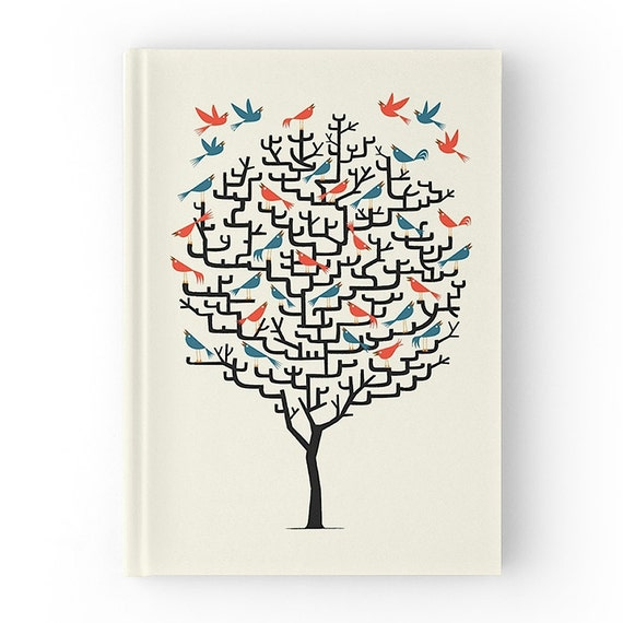 Out On A Lark - Hardcover Office Journal book - Ruled Line - iOTA iLLUSTRATION