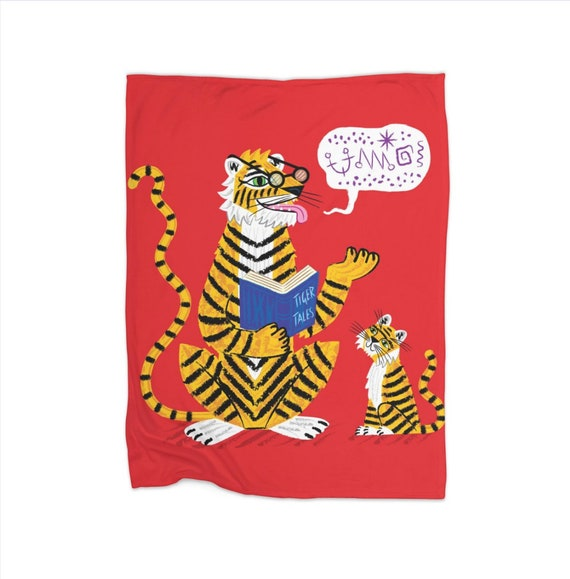 "Tiger Tales - children's fleece blanket - 30"" x 40"" / 50"" x 60"" / 60"" x 80"""