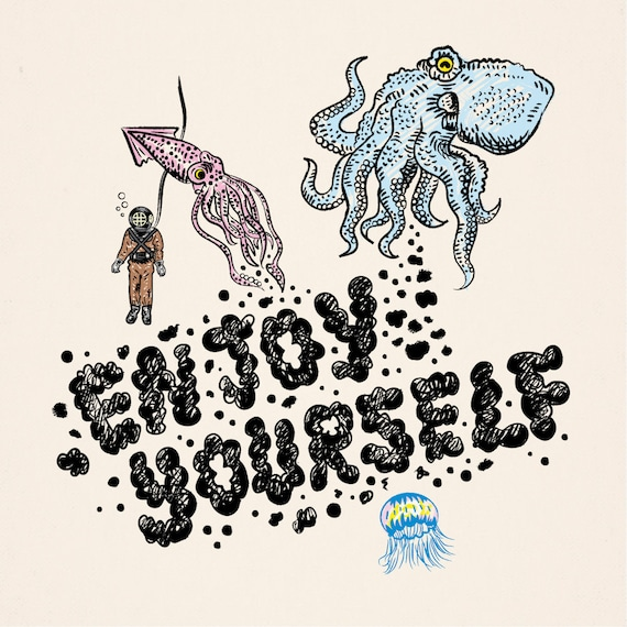 Enjoy Yourself -  art poster print by Oliver Lake - iOTA iLLUSTRATiON