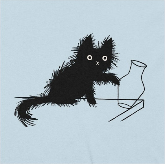 Moggy (No.5), mischievous cat, Men's T-shirt, cat tees, cute kitten tee by Oliver Lake