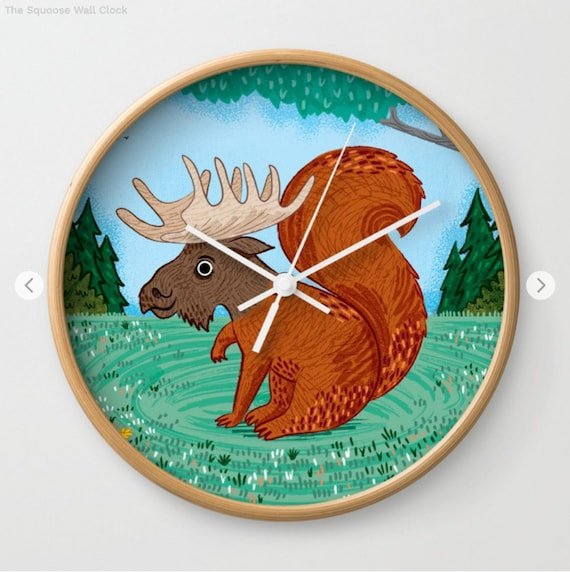 The Squoose - wall clock - children's wall clocks - by Oliver Lake - iOTA iLLUSTRATiON