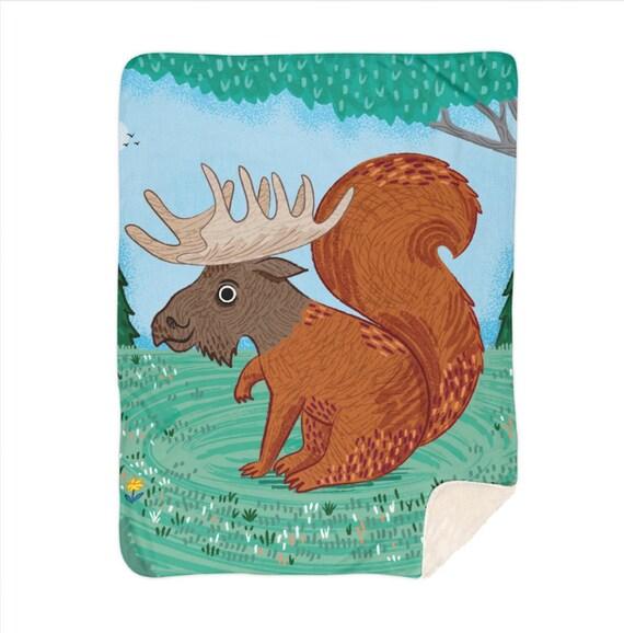 "The Squoose - children's sherpa blanket - 60"" x 80"" / 50"" x 60"""