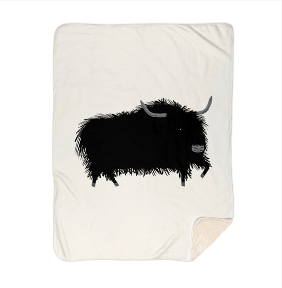 "The Yak - sherpa blanket - 60"" x 80"" by Oliver Lake iOTA iLLUSTRATiON"