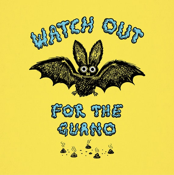 Watch Out For The Guano - animal art print by Oliver Lake - iOTA iLLUSTRATiON