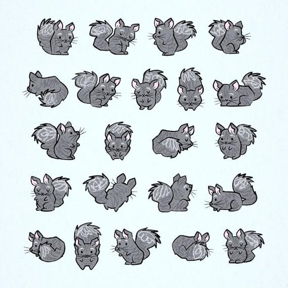 All Chinchilla No Filla,  Animal Art Poster Print by Oliver Lake
