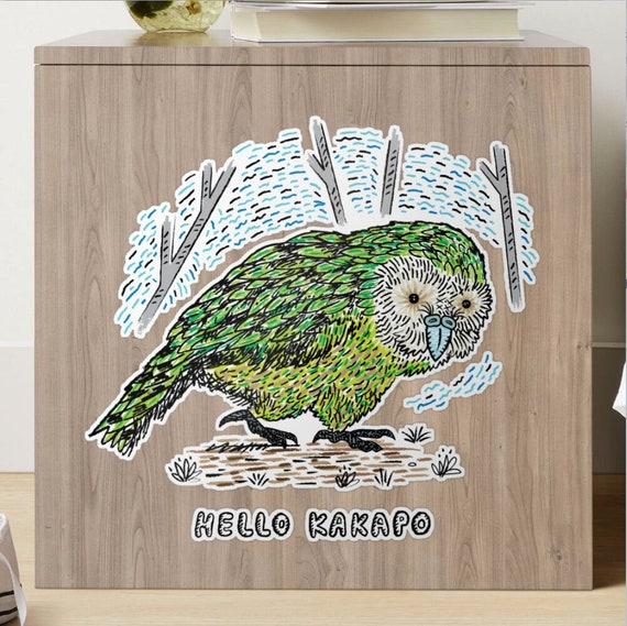 Hello Kakapo - animal sticker -  small, medium, large, X-large by Oliver Lake - iOTA iLLUSTRATiON