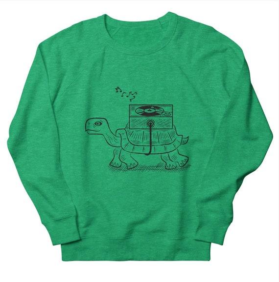 TORTOISE WAX - Men's / Women's Sweatshirt - Heather Green - Heather Oatmeal - Heather Pink  by Oliver Lake - iOTA iLLUSTRATiON