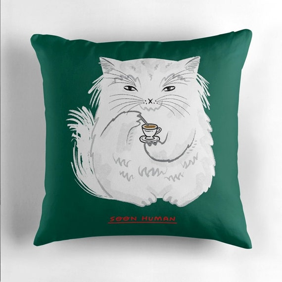 Soon Human - throw pillow cover / cushion cover  by Oliver Lake / iOTA iLLUSTRATION