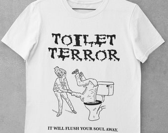 BAD HORROR MOVIES (No.3), Toilet Terror, Bella Canvas, Unisex Crew Neck T-Shirt, Comedy Tee