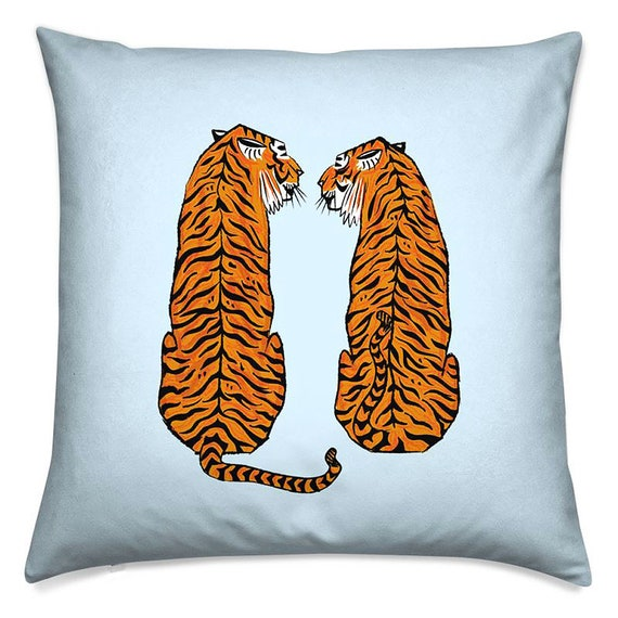 Tiger Tiger, throw pillow cover, animal cushion, including insert by Oliver Lake
