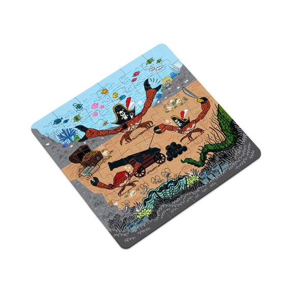 Cannon Crabs, jigsaw puzzle, 16 pieces, 36 pieces by Oliver Lake