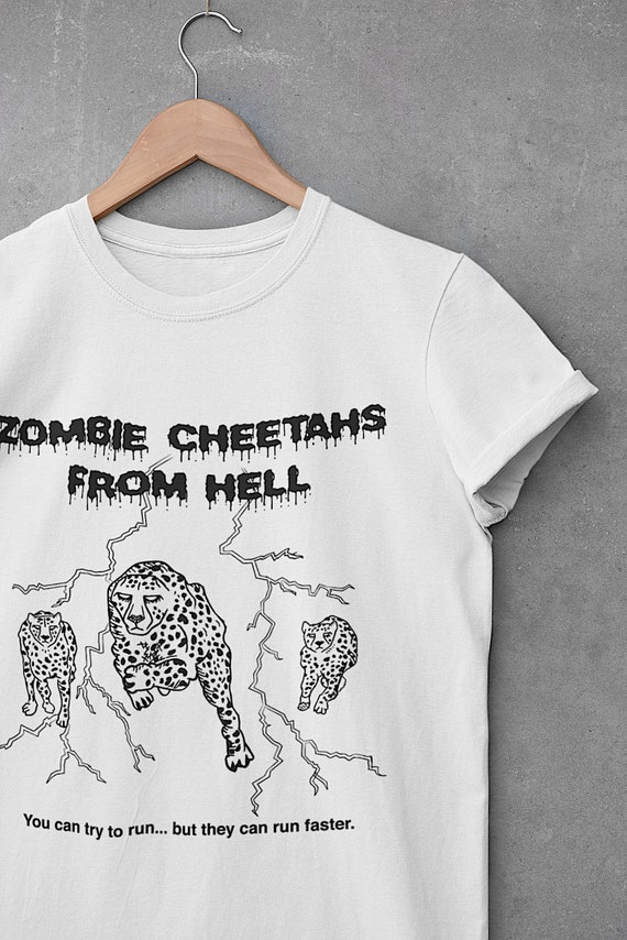 Halloween Series - BAD HORROR MOVIES (No.4), Zombie Cheetahs From Hell, Bella Canvas, Unisex Crew Neck T-Shirt, Comedy Tee