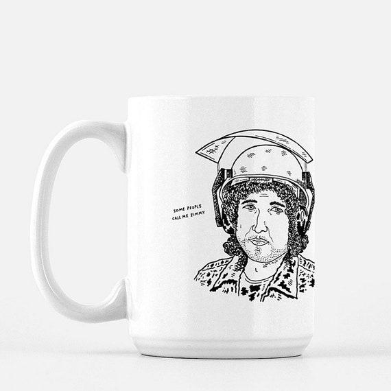Zimmy, deluxe ceramic mug, large size mug, 15 Oz, funny design, illustrated mug by Oliver Lake