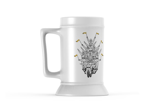This Is How We Roll, Beer Stein Mug By Oliver Lake