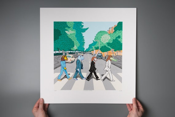 The Walrus Was Paul - Abbey Road inspired - Giclée art poster print by Oliver Lake