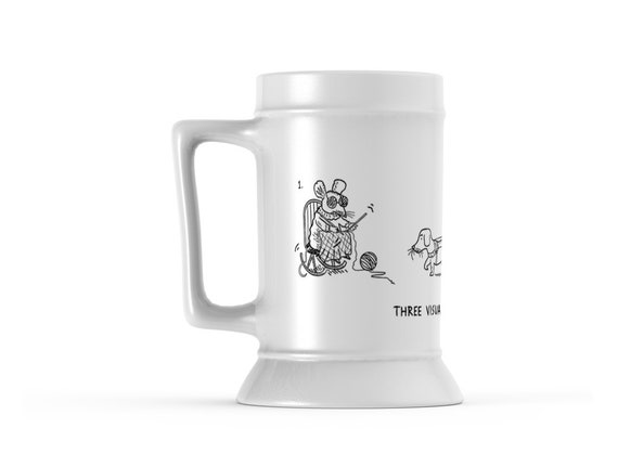 Three Visually Impaired Mice, Beer Stein Mug, Tankard by Oliver Lake