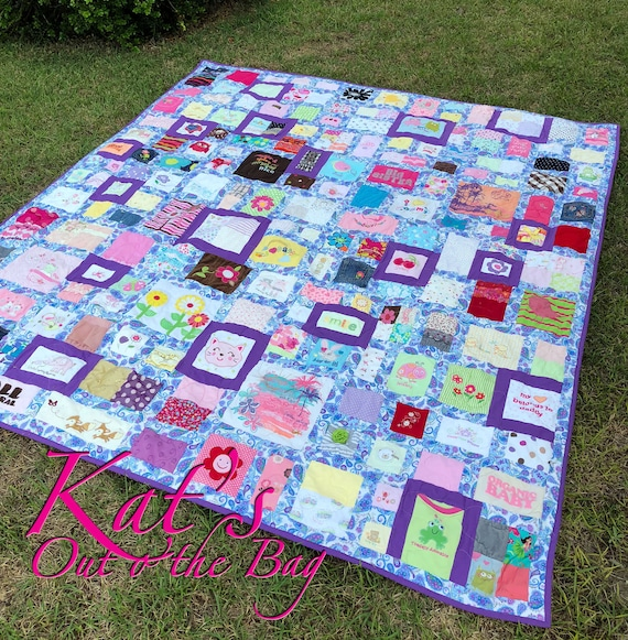 Baby Clothes Quilt Memory Quilt First Year Clothes Quilt Etsy