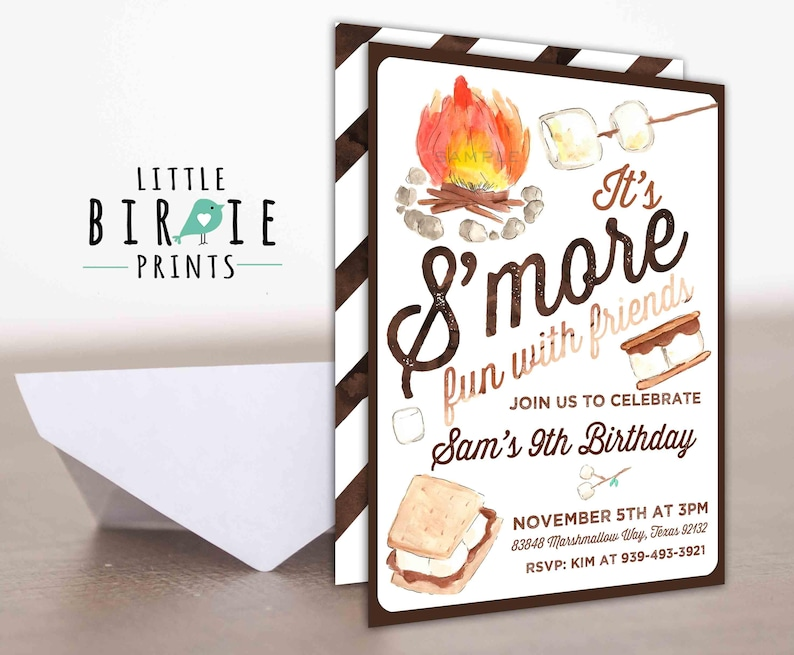 SMORES Birthday Invitation Smore
