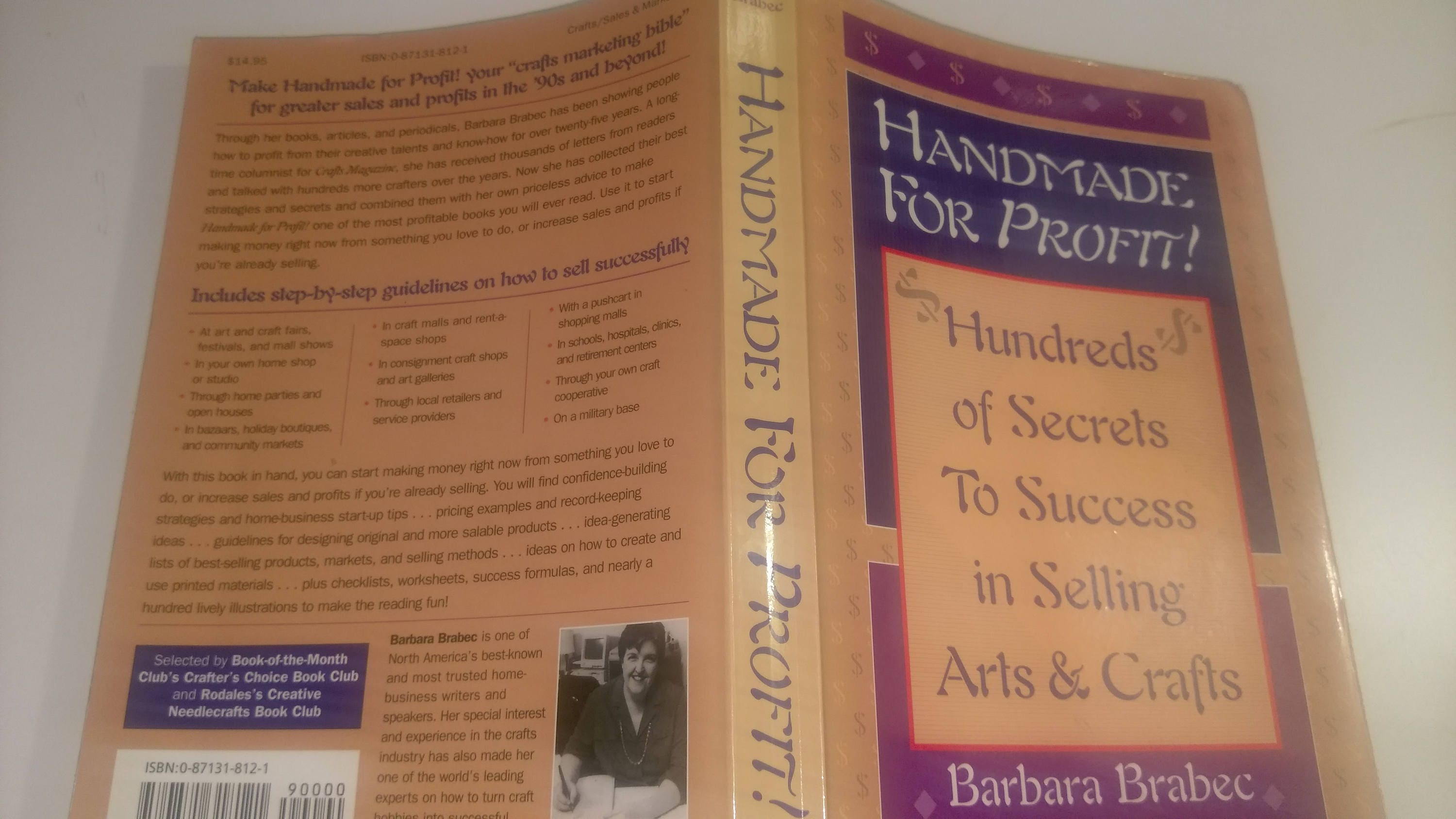 Handmade For Profit Book By Barbara Brabec 100s Of Secrets To Etsy