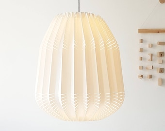 Thistle origami lamp from paper   New lighting collection 2018