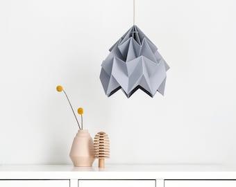 origami paper lamp shade Moth grey