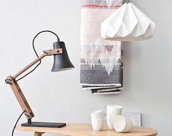origami lampshade Chestnut white