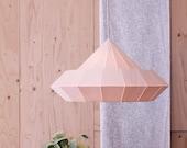 Woodpecker lamp from birch wood veneer