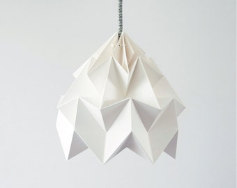 origami lamp Moth white