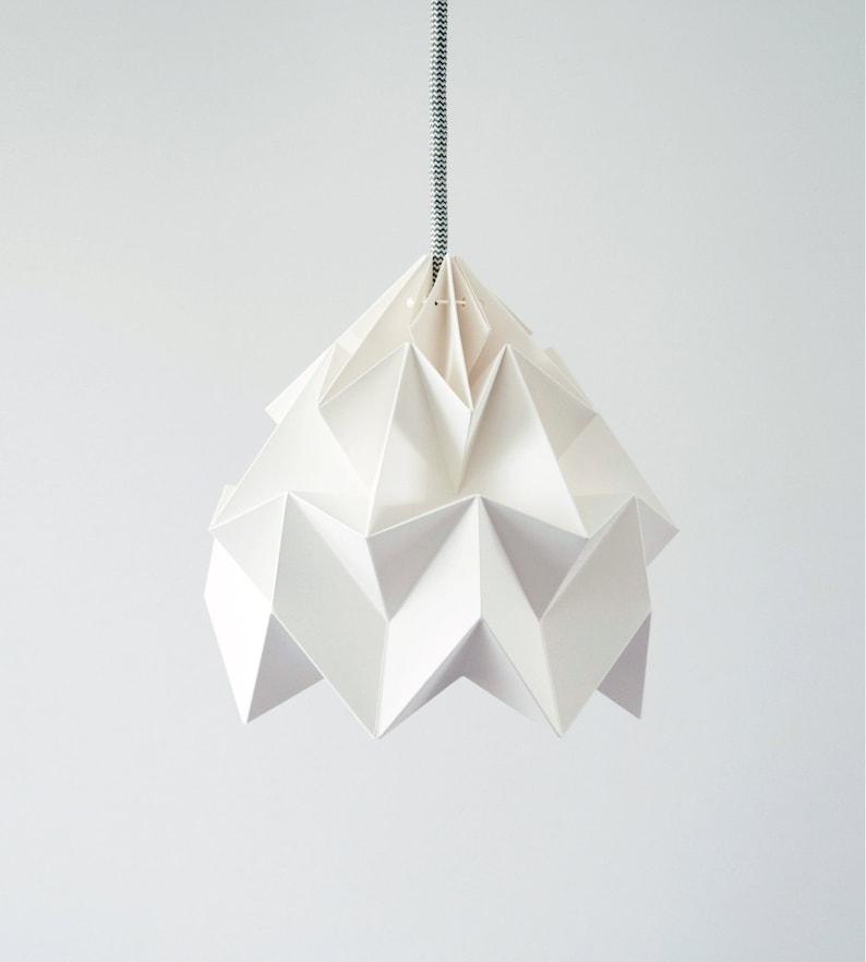 origami lamp Moth white image 0