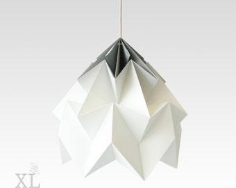 XL Moth origami lampshade gradient grey