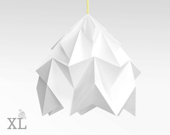 XL Moth origami lampshade white