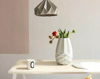 paper origami lamp Chestnut Autumn Yellow. Pendant lighting for bedroom, living room or nursery.