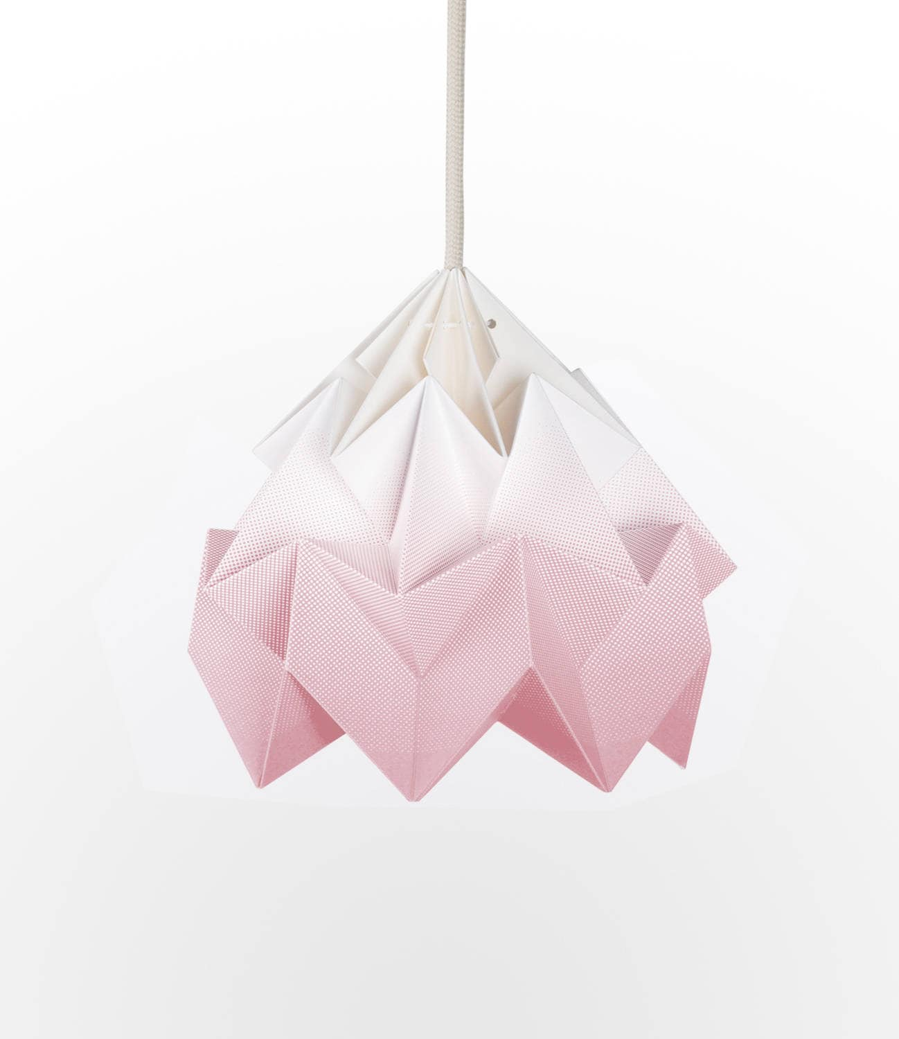Origami lamp shade moth gradient blush pink aloadofball Image collections