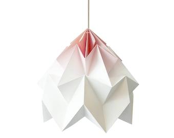 XL Moth origami lampshade gradient blush pink