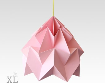 XL Moth origami lampshade pink