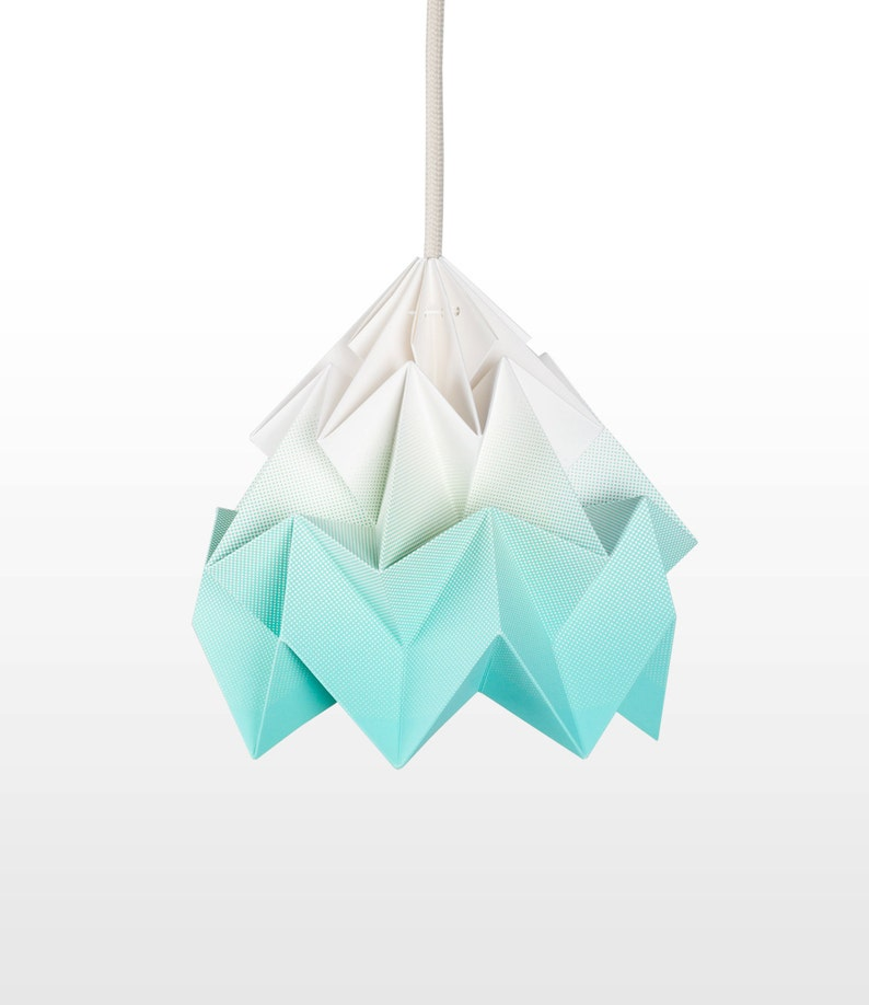 origami lamp shade Moth gradient mint image 0