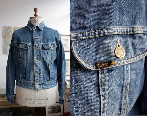 Vintage 1960s 1970s Lee Riders 101 Denim Jacket Me