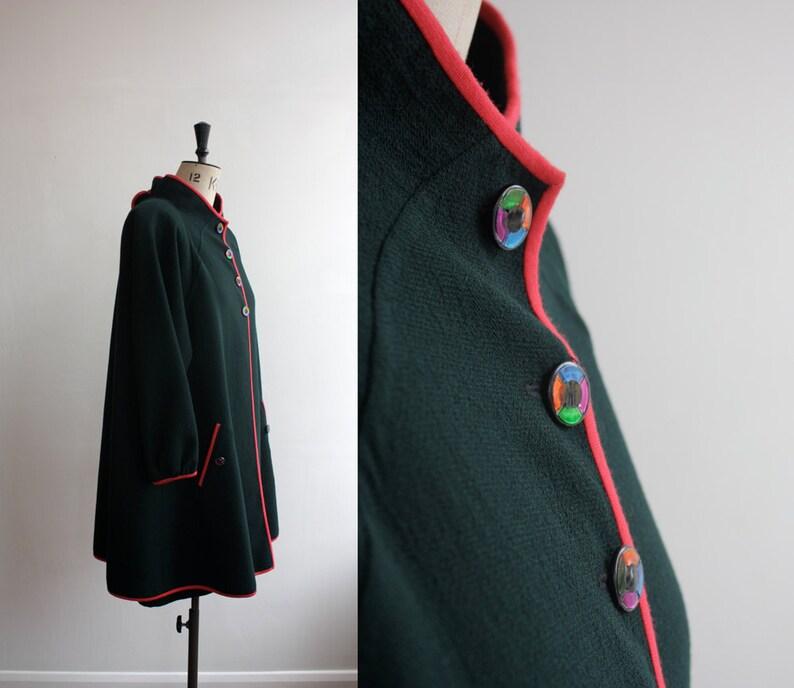 Vintage 1980s Black and Red Geoffrey Beene Designer Dress and Jacket Size M