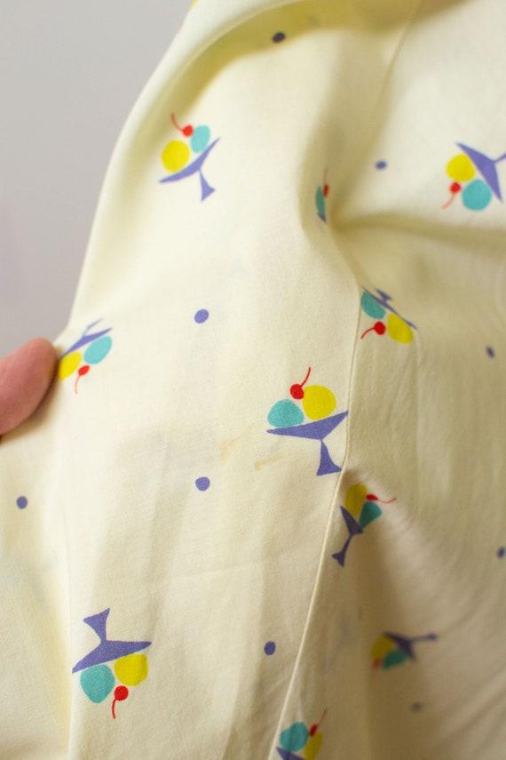 1950s Ice Cream Print Dress | 50s Novelty Print S… - image 7