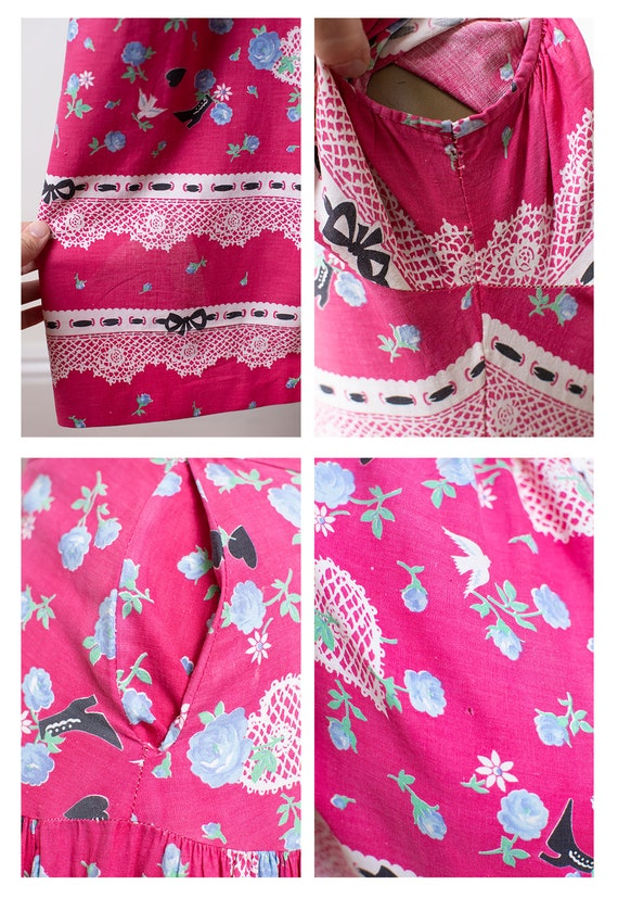 1940s Novelty Print Dress - image 9