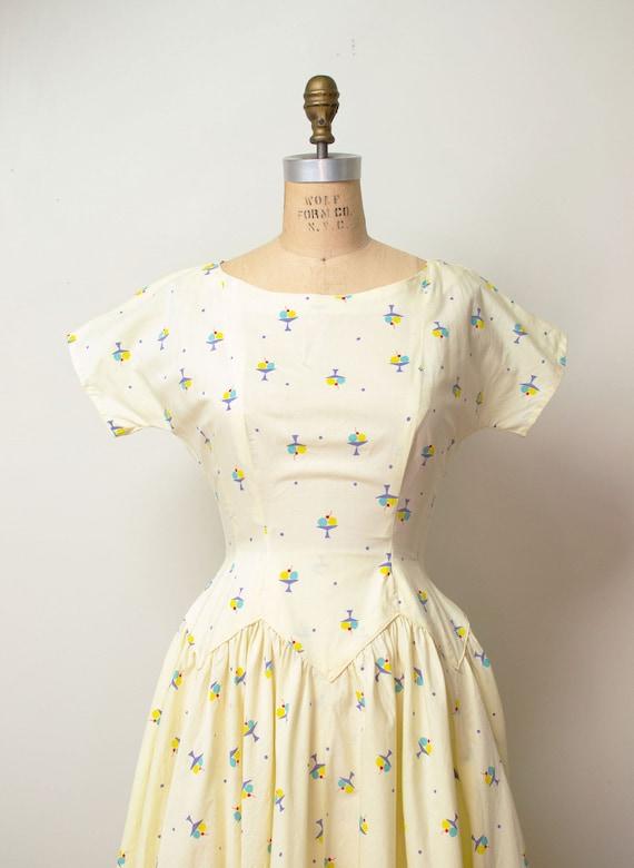 1950s Ice Cream Print Dress | 50s Novelty Print S… - image 3