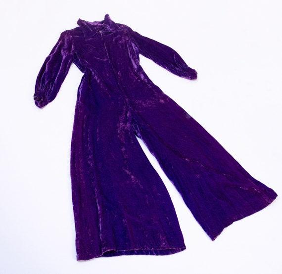 1960s Wide Leg Jumpsuit / 60s Palazzo Pants Purple
