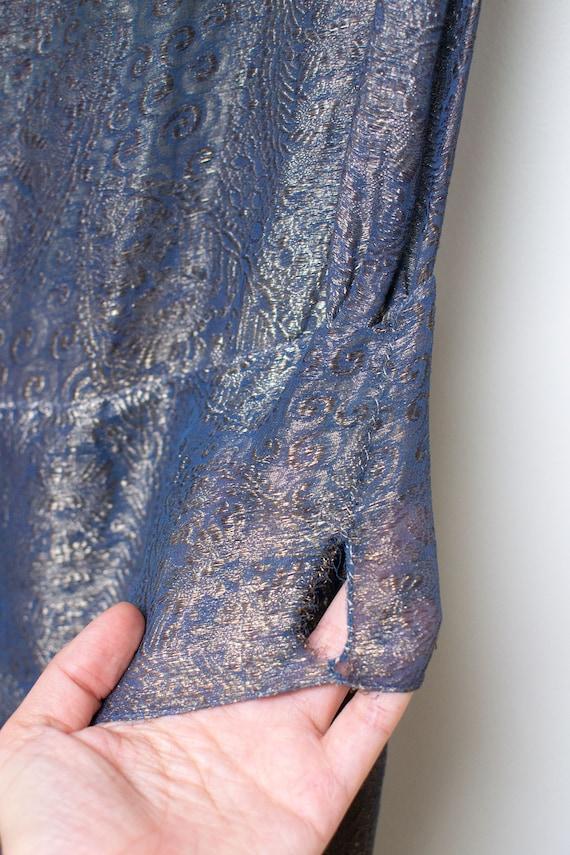 1920s Blue Lamé Dress | 20s Dress AS IS - image 6